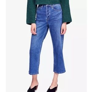 🌈NWT✌Free People Wales Wide Leg Cropped Jeans